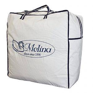 Molina 100% piumino bianco vergine matrimoniale Maxi cm. 250×220 4 stagioni trapuntato in fisso modello Islanda made in Italy