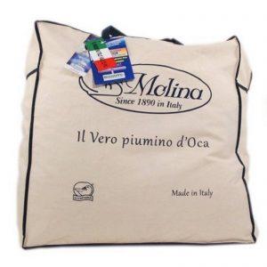 Molina piumino una piazza letto singolo 4 stagioni 100% piumino d'oca art. Emozioni