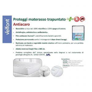 Velfont coprimaterasso proteggi materasso trapuntato matrimoniale antiacaro, antiallergico, antimicotico antibatterico double face testato scientificamente