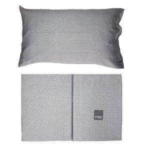 Zucchi collection completo lenzuola matrimoniale da 110 fili di puro cotone disegno Shams col. 7