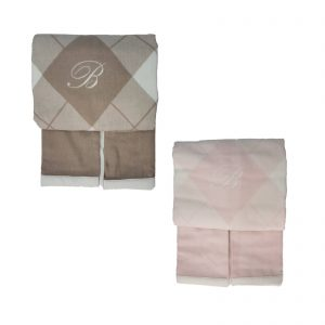 Blumarine coperta 100% lana merino superfine piazzata in jacquard misura 230×255