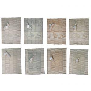 Borbonese Twist e Botanical strofinaccio canovaccio misto lino cm. 50×70