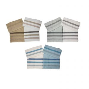 Bassetti set 4 pezzi, 2 asciugamani viso + 2 asciugamani ospiti spugna da 420 g/mq