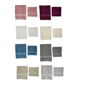 Twinset Vanity asciugamano spugna viso + asciugamano spugna ospite 500gr/mq