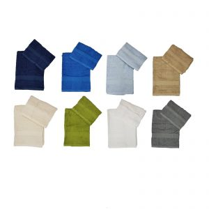Bassetti Time set asciugamano viso + asciugamano ospiti spugna da 430 g/mq