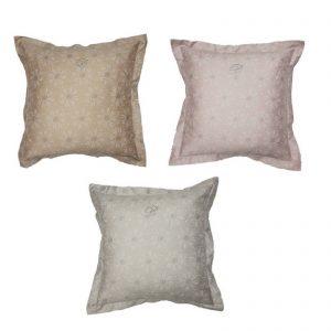 Blumarine Bon Chic set due cuscini arredo 100% raso di cotone