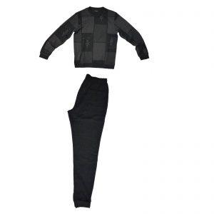 Trussardi nightwear pigiama uomo girocollo invernale con polsino 6141