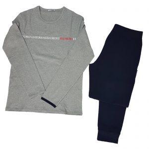 Bikkembergs Pigiama Uomo Tuta Casa Caldo Cotone girocollo con pantalone polsino