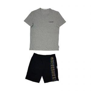 Bikkembergs pigiama estivo corto loungewear Logo BPP2029