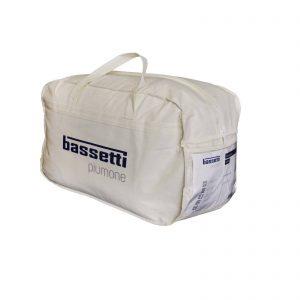 Bassetti piumino invernale + primaverile in microfibra 4 stagioni Made in Italy