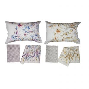 Zucchi collection, completo lenzuola matrimoniale in raso di cotone da 110 fili al cm/q