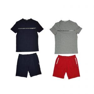 Bikkembergs pigiama estivo corto loungewear Logo BPP2025