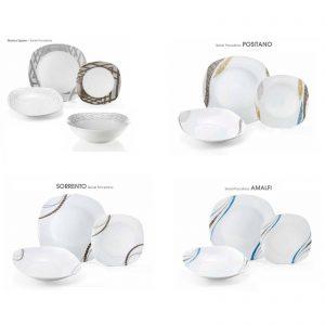 Fade servizio piatti quadrato 19 pezzi porcellana