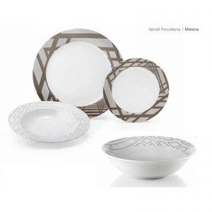 Fade servizio piatti rotondo 19 pezzi porcellana