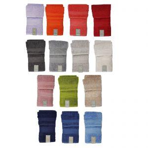 Zucchi asciugamano viso più asciugamano ospite in spugna puro cotone pettinato da 560gr/metro quadro