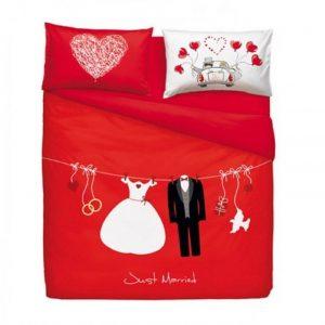 Bassetti Home Innovation completo copripiumino matrimoniale Love is a Couple