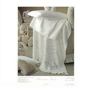 Blumarine coperta copertina culla baby cerimonia con swarovski made in italy