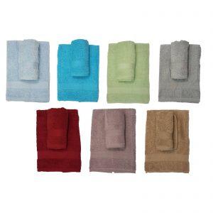 Cotton Mania asciugamano viso+asciugamano ospite spugna 380gr metro quadro 100% cotone