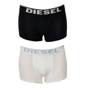 Diesel boxer uomo in cotone elasticizzato con elastico esterno firmato