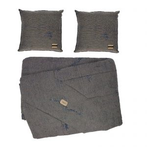 Trussardi trapuntino estivo matrimoniale in tessuto d'arredo più due cuscini