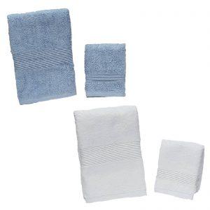 Zucchi set un asciugamano viso più un asciugamano ospite spugna da 560 grammi/mq