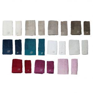 Blumarine set asciugamano viso più asciugamano ospite Crociera spugna 500gr/mq
