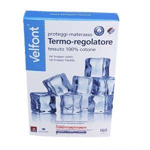 Velfont coprimaterasso proteggi materasso con angoli termoregolatore in tessuto outlast di 100% cotone