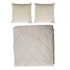 Byblos copriletto trapuntato / trapuntino estivo matrimoniale più due cuscini arredo made in Italy disegno Rodi