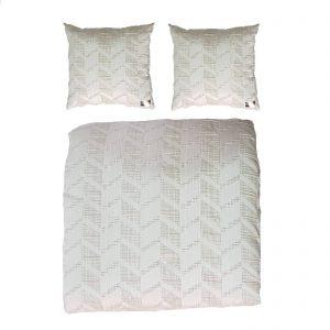 Byblos copriletto trapuntato / trapuntino estivo matrimoniale più due cuscini arredo made in Italy disegno Alabama
