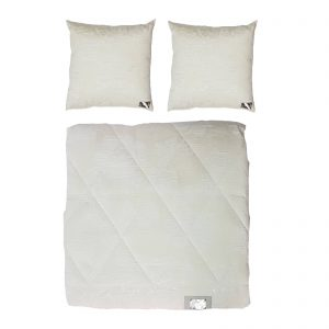 Byblos copriletto trapuntato / trapuntino estivo matrimoniale più due cuscini arredo made in Italy disegno Florida