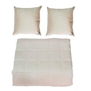 Byblos copriletto trapuntato / trapuntino estivo matrimoniale più due cuscini arredo made in Italy disegno Maiorca