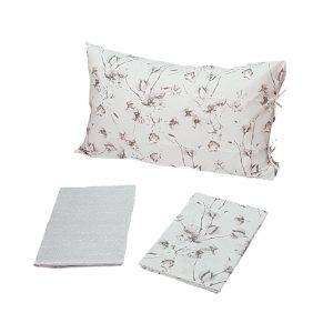 Zucchi Easy Chic completo lenzuola matrimoniale percalle da 70 fili di puro cotone disegno Gossypium