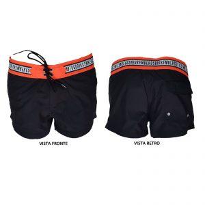 Bikkembergs costume uomo boxer corto aperto con strapp e tasche B6G5051