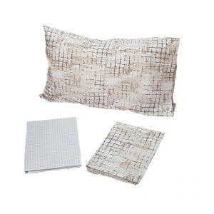 Zucchi Easy Chic completo lenzuola matrimoniale percalle da 70 fili di puro cotone disegno Berberis