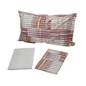 Zucchi Easy Chic completo lenzuola matrimoniale percalle da 70 fili di puro cotone disegno Bucaneve