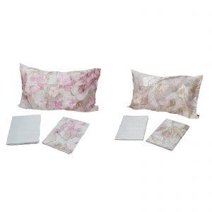 Zucchi Easy Chic completo lenzuola matrimoniale percalle da 70 fili di puro cotone disegno Lunaria