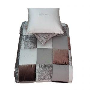 Agostini trapunta invernale + 2 cuscini arredo tessuto d'arredo made in Italy