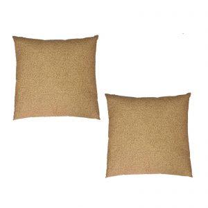 Borbonese set due cuscini arredo modello Oplà cm. 60×60 100% percalle di cotone