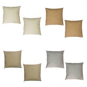 Borbonese set due cuscini arredo modello Oplà cm. 45×45 100% percalle di cotone