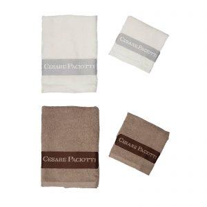 Cesare Paciotti set asciugamano viso + asciugamno ospite spugna Downtown