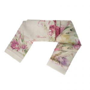 Blumarine tovaglia da tavola in puro lino con stampa piazzata cm. 170×270 Sofisticata cipria