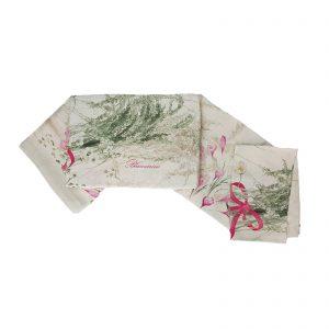 Blumarine tovaglia da tavola in puro lino con stampa piazzata cm. 170×270 Zafferano rugiada