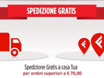 Spedizioni gratuite per acquisti superiori ai 70 euro