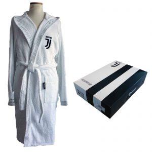 F. C. Juventus nuovo logo accappatoio spugna con cappuccio confezione scatola
