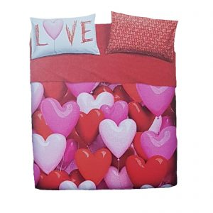 Bassetti Imagine completo lenzuola matrimoniale stampa Love Party