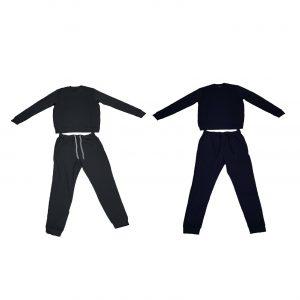 Julipet pigiama uomo estivo girocollo con polsino e tasche su pantalone