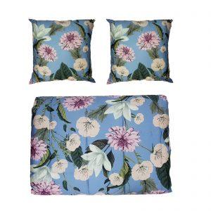 Twinset copriletto trapuntato matrimoniale Lovely +2 cuscini in raso di cotone 120 fili cm/q