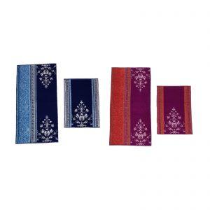Bassetti granfoulard set asciugamano viso + asciugamano ospite spugna da 550 gr/m