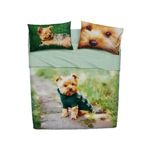 Bassetti Imagine completo lenzuola matrimoniale stampa Mr. Dog