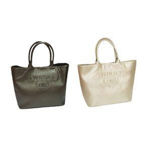 Twinset borsa a mano rigida lucida misura base cm. 36×17 altezza cm. 34